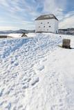 Schloss Kristiansten in Trondheim im Winter - 196756515
