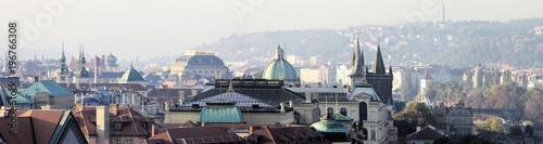 Poster Panoramafoto s prag, morgens, altstadt, panorama