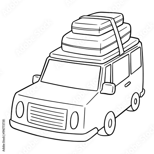 Papiers peints Cartoon draw vector of car