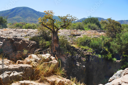 Aluminium Baobab A view of the beautiful Epupa Falls on the border of Namibia and Angola. Africa