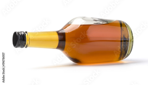 whiskey bottle isolated