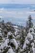 Looking down to Okanagan Lake and West Kelowna after snowfall.