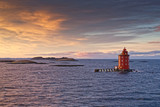 Lighthouse Kjeungskjaer fyr, Norway near Trondheim - 196788140