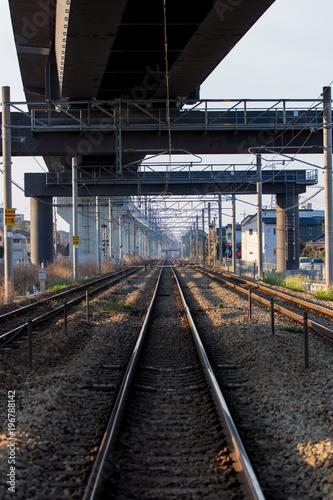 Fotobehang Spoorlijn 電車