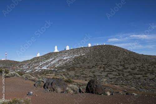 Foto op Canvas Cappuccino National park El Teide, Snow on the top