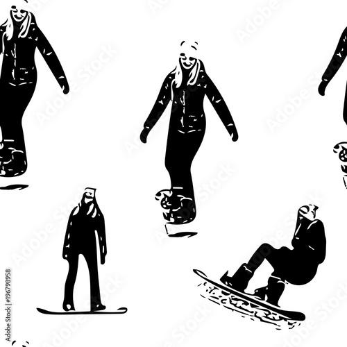 Fototapeta snowboard