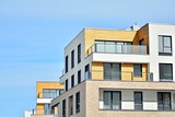 Detail of a new modern apartment building - 196805515