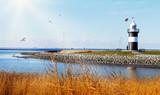Leuchtturm an der Wurster Nordseeküste in Wremen, Sehenswürdigkeit und Hochzeitsort in Norddeutschland - 196806710