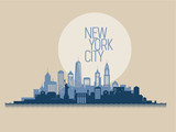 Cityscape of New York. Vector illustration