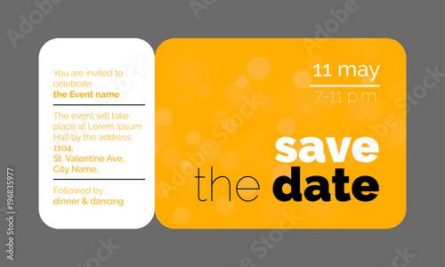 save the date wedding celebration invitation card creative template