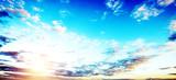 Sunrise summer sky panorama