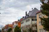 Row of houses, tenement houses in Munich - 196841363