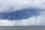 bad weather with storm at pacific ocean