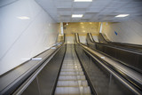 Empty Escalator to the subway with no people - 196869554