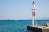 Safe guard tower on the peer.  Holidays concept image. Greece - 196874725