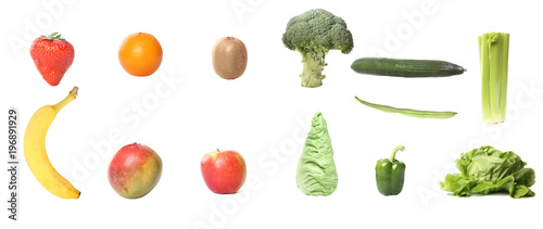 Foto op Aluminium Verse groenten Lovely fruit and vegetables