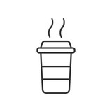 Coffee cup icon. Vector illustration. Business concept coffee mug pictogram.