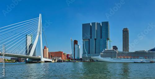 Keuken foto achterwand Rotterdam Rotterdam cityscape, Netherlands