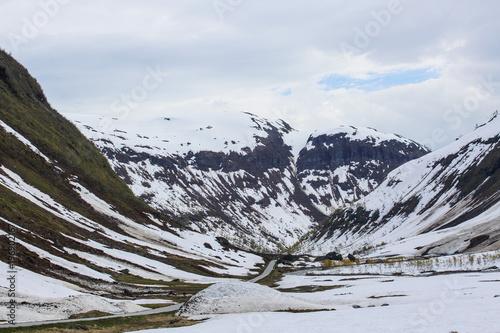 Sticker Spring mountain valley
