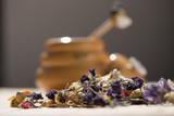 Dried medical herb tea