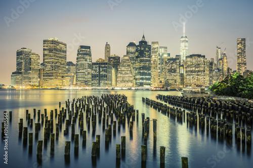 Foto op Aluminium New York NYC by night, USA.