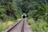 Railroad tunnel in the mountain, Turnov, Bohemia, Czech Republic