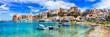 Leinwanddruck Bild - Castellammare del Golfo - beautiful coastal town in Sicily. Italy
