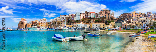 Leinwanddruck Bild Castellammare del Golfo - beautiful coastal town in Sicily. Italy