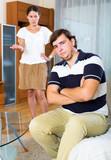 Quarrel woman and man - 196927947