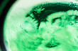 Leinwandbild Motiv green background on the basis of a combination of lumps, macro abstract