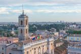 Rome, Italy - The cityscape from Vittoriano monument, in the center of Rome, also know as 'Altare della Patria'. - 196928534