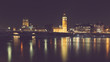 London night view with Big Ben and parliament at westminster - 196928736