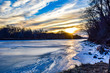 Frozen Des Moines River