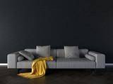Solo sofa interior- 3d illustration - 196936776