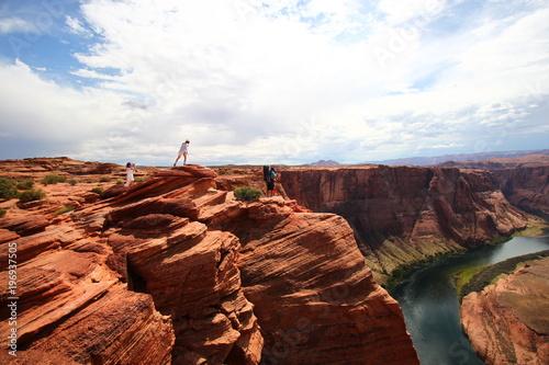 Fotobehang Bruin Horseshoe Bend en Arizona, Grand Ouest des Etats-Unis