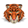 Tiger Wild animal head vector illustration graphic design