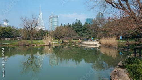 Fotobehang Shanghai public park in city