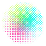 Background colorful halftone gradient vector. Abstract backround with colorful halftone elements. Geomeric retro background. - 196953175