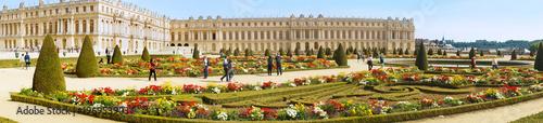 Chateau de Versailles Gardens in Paris, France. - 196953903
