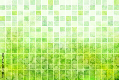 Keuken foto achterwand Lime groen クローバー 葉 緑 背景