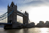 Tower Bridge is a combined bascule and suspension bridge in London built between 1886 and 1894. The bridge crosses the River Thames close to the Tower of London.