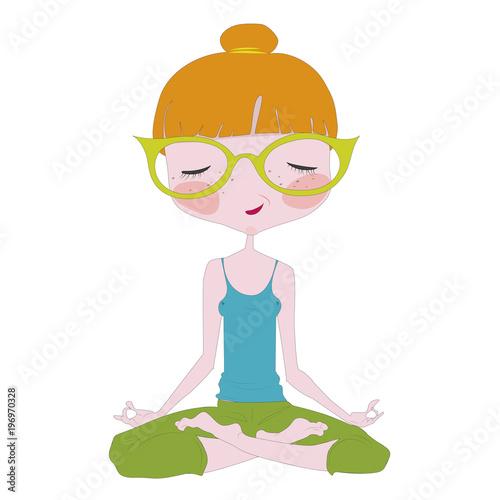 Fototapeta Yoga pose