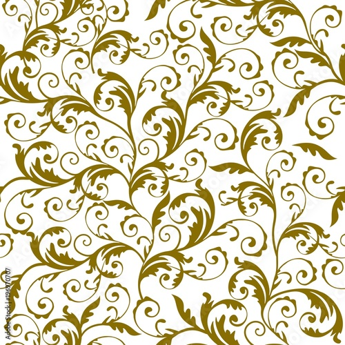 Fototapeta Seamless floral pattern background