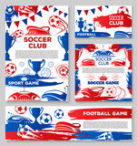 Vector soccer team football club posters