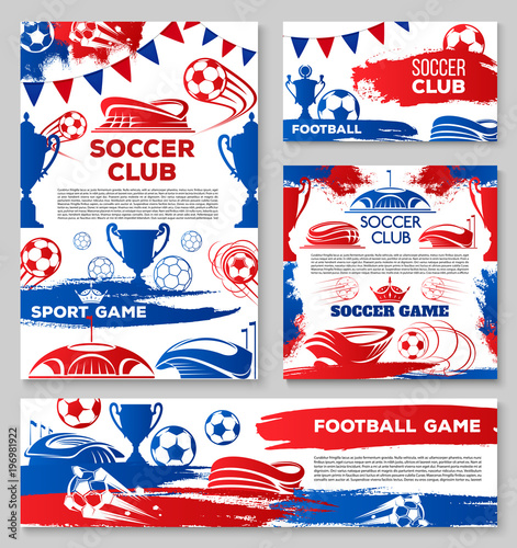 Vector soccer team football club posters