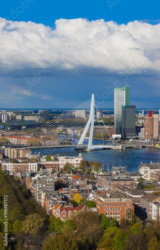 Canvas Rotterdam Rotterdam cityscape - Netherlands