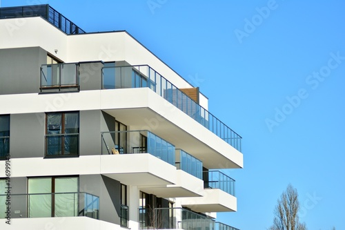 Fototapeta Modern apartment building
