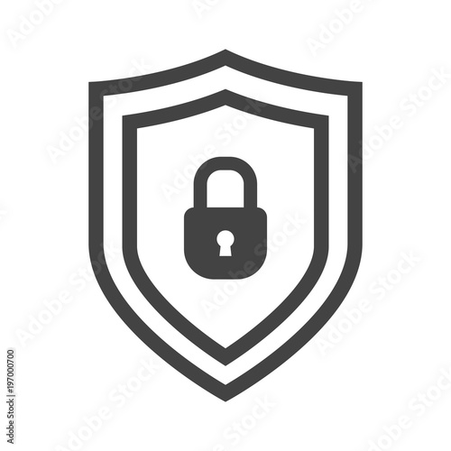 Vector Shield Icon Emblem With Lock Security Collection Protection Logo Ryptocurrency