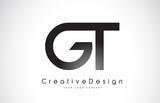 GT G T Letter Logo Design. Creative Icon Modern Letters Vector Logo.
