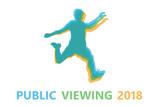 Silhouette Fußballspieler Public Viewing 2018